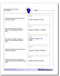 Word Problems Basic Math Worksheets Free Easy Multiplicati ~ Koogra