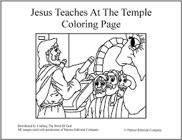 Small Picture Jesus Teaches At The Temple Coloring Page Crafting The Word Of God