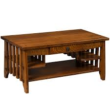 stick mission amish coffee table amish furniture cabinfield fine furniture