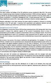 Satisfaction Survey Report Fsc Satisfaction Survey Report Food Security Cluster