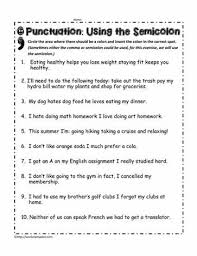 Semicolons And Colons Worksheets Semicolon Worksheets