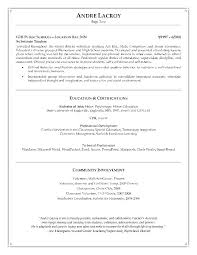 Special Education Teacher Resume Resume Template Directory