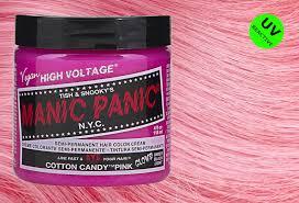Manic Panic Hair Colour Chart Cotton Candy Pink Manic Panic High Voltage Classic Cream