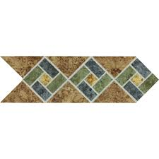Decorative Ceramic Tile Accents Daltile Heathland Sunset Blend 100 in x 100 in Glazed Ceramic 51