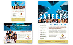 Brochure Templates In Word Impressive Employment Agency Jobs Fair Flyer Ad Template Word Publisher