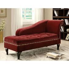 dark red velvet chaise lounge — prefab homes  spectacular velvet