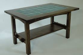 Build a mission style library table for your favorite lamp. Handmade Mission Style White Oak And Tile Coffee Table By Mostly Mission Furniture Custommade Com
