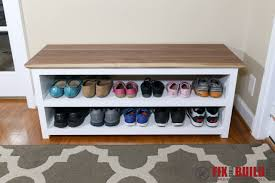 i have detailed plans available to build your own diy shoe storage bench in my which include a full cut list materials needed and step by step
