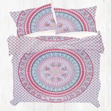 red green bohemian king size duvet cover set with pillow cases