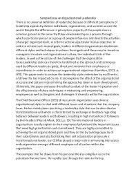 leader essay future business leader essay the leader of the future  sample essay on organizational leadership sample essay on organizational leadership there is no universal definition of