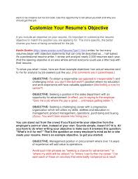 Should A Resume Have An Objective Free Resume Templates 2018