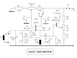 grid dip oscillator tr2 forms a dc amplifier permitting the use of a 1ma fsd meter sensitivity controlled by r7 tr1 switched off via s2 the instument forms a field