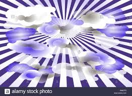 Abstract Background With Clouds And Radial Rays Violet And