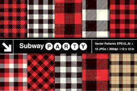 Plaid Pattern Fascinating Vector Lumberjack Plaid Patterns Graphic Patterns Creative Market