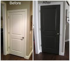 Wood Colored Paint Black Interior Doors Before And After Door Before And After