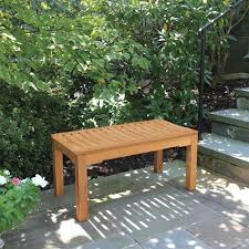 foxhall 3 ft small outdoor backless bench