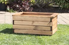 heavy duty wooden trough garden planters 3 sizes uk made fully assembled