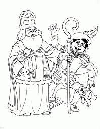 Kleurplaat Zwaaiende Sinterklaas En Zwarte Piet Sinterklaas
