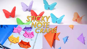 diy sticky note origami tutorial 3 minute crafts compilation