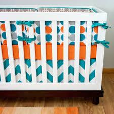 luxury orange and turquoise blue mini crib sets vibrant happy nursery bedding
