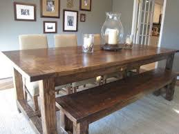 Rustic Dining Room Furniture Bench Seating Rustic Dining Room