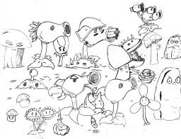 Plants Vs Zombies Coloring Pages For Kids At Getdrawingscom Free