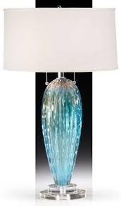 blue glass lamp. Aqua Blue Venetian Glass Lamp; Murano Lamps Lamp