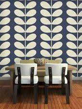 living room orla kiely multi: john lewis orla kiely house giant stem wallpaper  midnight blue