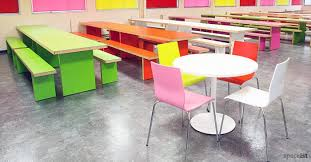 round school lunch table. School Green Red Pink And White Canteen Table Benches Round Lunch O