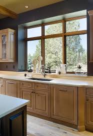 Kitchen window sill ideas kitchen rustic with wood raised panel oil lamp