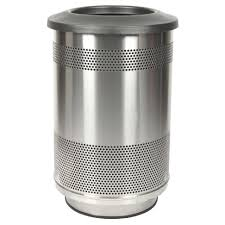metal kitchen trash can cans garbage with lid