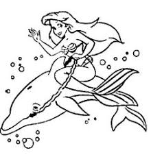 Small Picture Mermaid and sea creatures coloring pages Mermaid and dolphins
