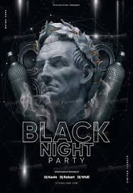 Black Flyer Backgrounds Black Night Party Psd Flyer Template