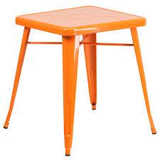 retro metal table blue