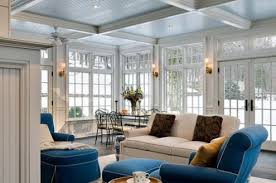 Sunroom Lighting Ideas Sunroom Furnished With Chandelier And Bistro