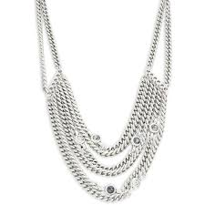 <b>Uno De 50</b> Bajo el Mar Stacked Chain Statement <b>Necklace</b> (21.635 ...