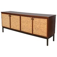 modern furniture credenza. Italian Modern Mahogany And Cork Four-Door Credenza Or Buffet For Sale Furniture
