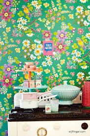 Behang Roze Mintgroen