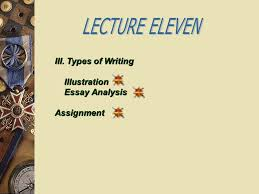 lecture eleven illustration ppt video online  lecture eleven iii types of writing illustration essay analysis