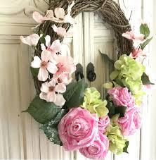 diy tissue paper flower wreath wreath diywreath hallstromhome shabbychic farmhouse