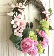 diy tissue paper flower wreath wreath diywreath hallstromhome shabbychic farmhouse