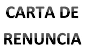 Formato Ejemplo Carta De Renuncia Office Formats