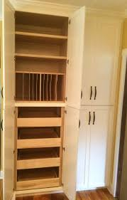 custom solid wood kitchen pantry cabinets for organized