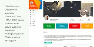 Resume Html Template Delectable MateCard Materialize VCardCVResume HTML Template By Beshleyua