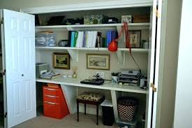 closet office. Home Office In A Closet Design Workspace Reveal