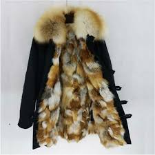 2018 new natural real fox fur coat women fashion winter fox fur lining coat thick warm