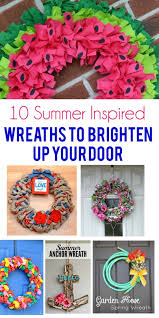 10 diy summer wreaths to brighten up your door
