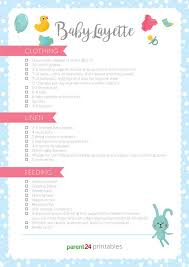 Printable Baby Layette List Of Everything Baby Will Need Parent24