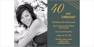 21+ 40th Birthday Invitation Templates – Free Sample, Example ... Printable 40th Birthday Invitation Template with Custom Photograph
