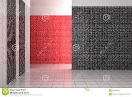 Leeren Sie Modernes Badezimmer Mit Den Schwarzen Weißen Und Roten